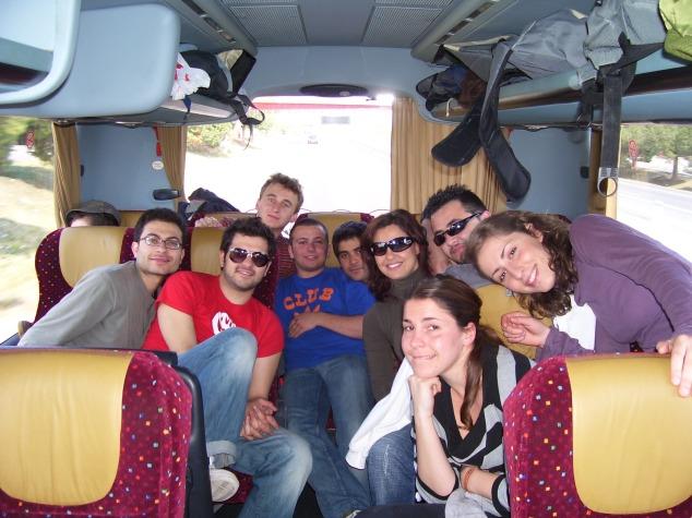 Il gruppo italo polacco in viaggio direzione Valencia nel 2007